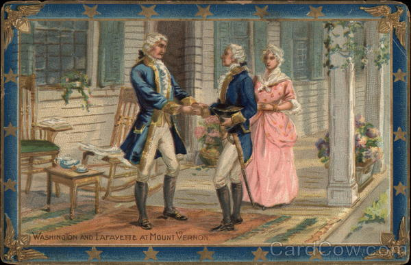Washington and Lafayette at Mount Vernon Patriotic
