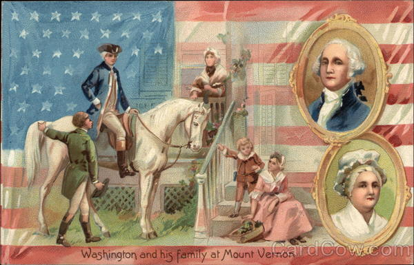 Washington and his Family at Mount Vernon President's Day