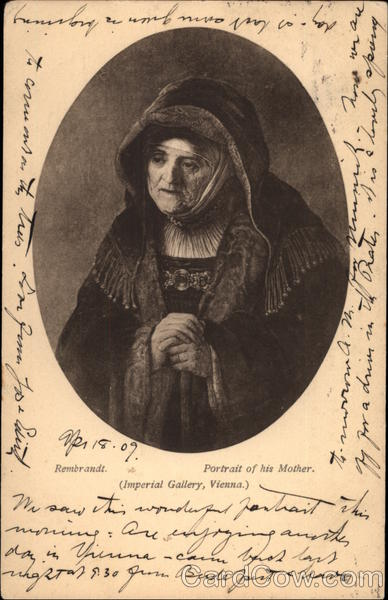 Portrait of Rembrandt's Mother Art