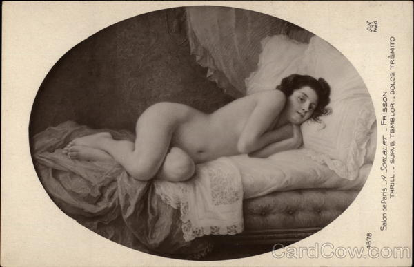 A Reclining Nude Woman Art Risque & Nude