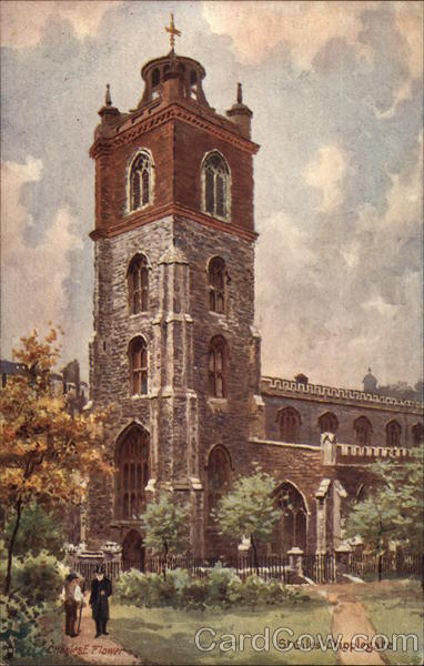 St. Giles Cripplegate Church London England Charles E. Flower