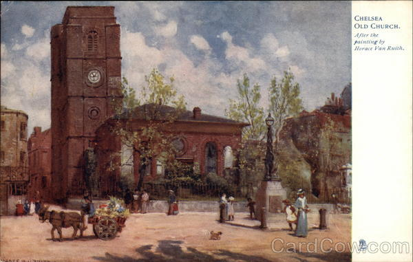 Chelsea Old Church, After the Painting by Horace Van Ruith London England