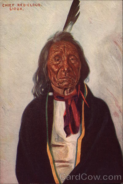 Cheif Red-CLoud Sioux Native Americana