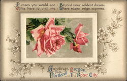 Greetings from Portland, Oregon, the Rose City Postcard