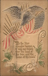 July 4th, with Flag, Eagle, and Scroll