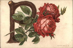 "Roses Entertwined with a ""P"""