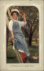Woman on a Ladder