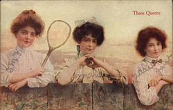 Three Women and Tennis Racket