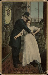 Police Officer Holding a Woman