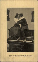 Try This On Your Piano Postcard