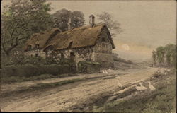 House with a Thatched Roof Postcard