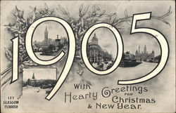 1905 Greetings: Let Glasgow Flourish Postcard