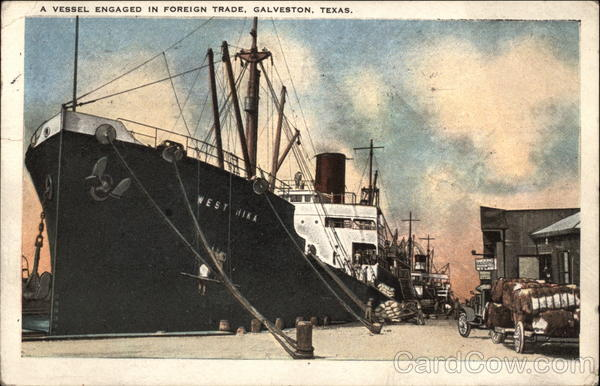 A Vessel Engaged in Foreign Trade Gaveston Texas Boats, Ships