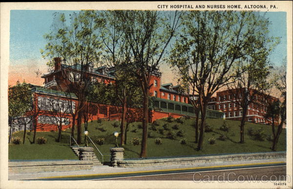 City Hospital and Nurses Home Altoona Pennsylvania