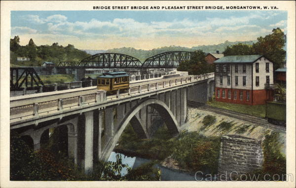 Bridge Street Bridge and Pleasant Street Bridge Morgantown West Virginia