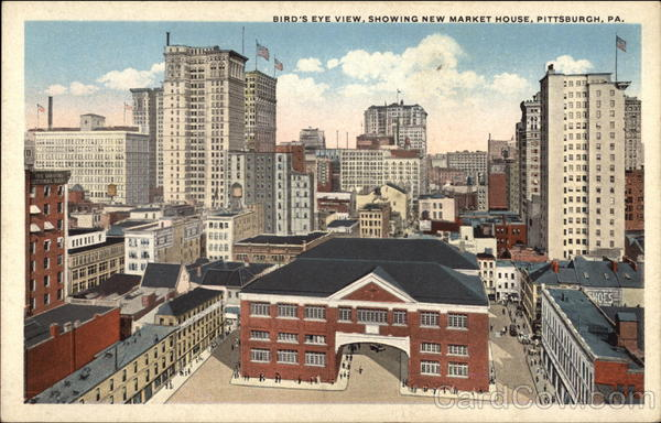 Bird's Eye View, Showing New Market House Pittsburgh Pennsylvania