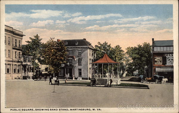 Public Square, Showing Band Stand martinsburg West Virginia