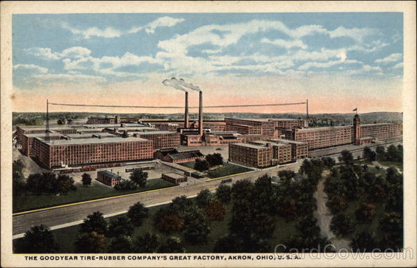 The Goodyear Tire Rubber Company S Great Factory Akron Oh