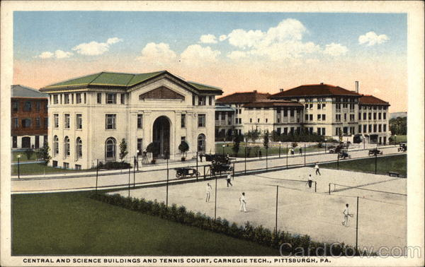 Central and Science Buildings and Tennis Court, Carnegie Tech Pittsburgh Pennsylvania