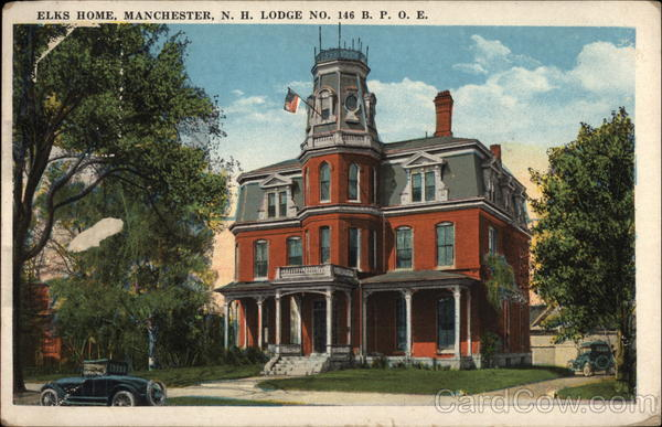 Elks Home, Lodge No. 146 BPOE Manchester New Hampshire