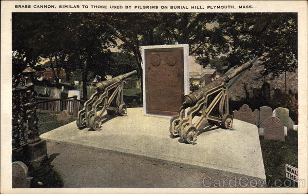 Brass Cannon, Similar to those used by Pilgrims, Burial Hill Plymouth Massachusetts