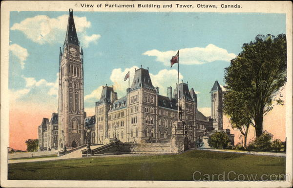 View of Parliament Building and Tower Ottawa Canada