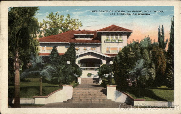 Residence of Norma Talmadge, Hollywood Los Angeles California
