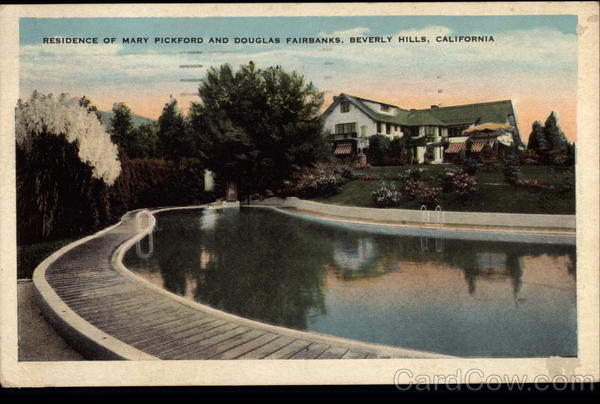 Residence of Mary Pickford and Douglas Fairbanks Beverly Hills California