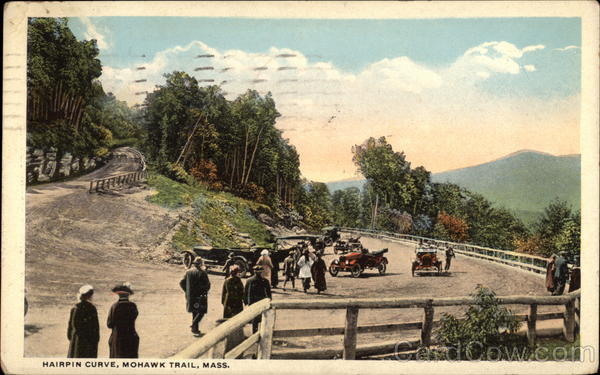 Hairpin Curve, MohawkTrail Massachusetts