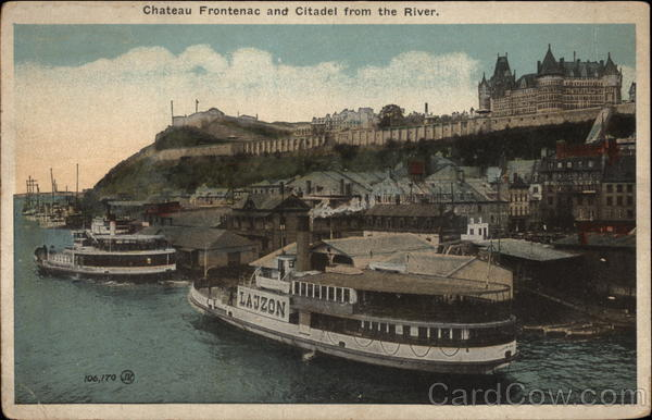 Chateau Frontenac and Citadel from the River Quebec Canada