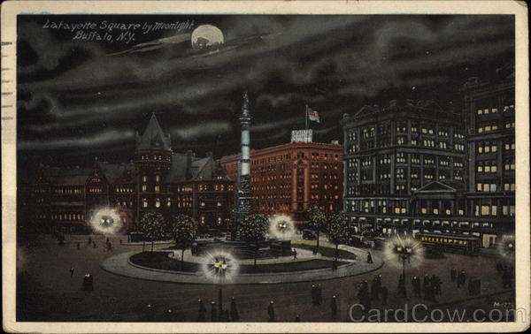 Lafayette Square by Midnight Buffalo New York