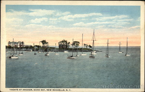yachts at anchor echo bay new rochelle ny. Black Bedroom Furniture Sets. Home Design Ideas