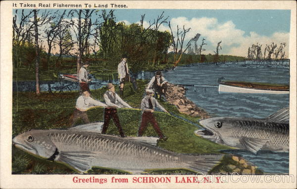 It Takes a Real Fisherman to Land These Schroon Lake New York