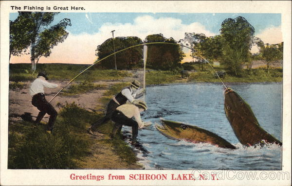 the fishing is great here schroon lake  ny
