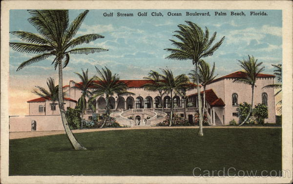Gulf Stream Golf Club, Ocean Boulevard Palm Beach Florida