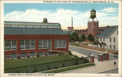 Entrance to the Plant of Interwoven Mills Postcard