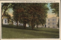 View of Campus, Washington and Jefferson College