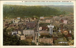 Bird's-Eye View of Main Street and Business Section