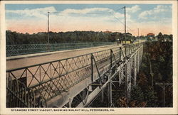 Sycamore Street viaduct, Showing Walnut Hill Postcard