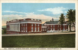Hospital, showing new wing, University of Virginia