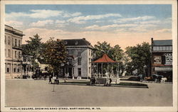 Public Square, Showing Band Stand Postcard