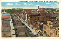 Bird's Eye View of Front Street and Business Section