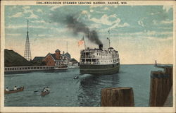 Excursion Steamer leaving Harbor
