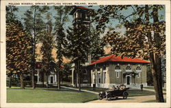 Poland Mineral Spring Bottling House Postcard