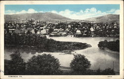Bird's Eye view of Towanda Postcard