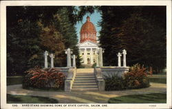 Band Stand showing dome of State Capitol