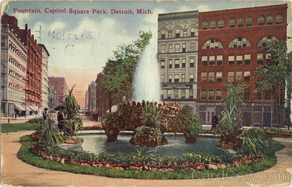 Fountain, Capitol Square Park Detroit Michigan