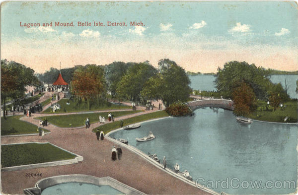 Lagoon and Mound, Belle Isle Detroit Michigan