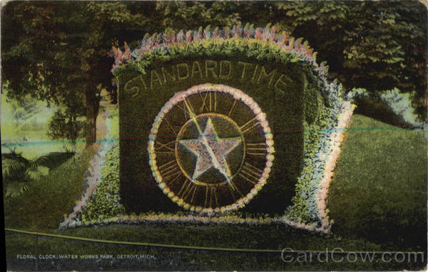 Floral Clock, Water Works Park Detroit Michigan