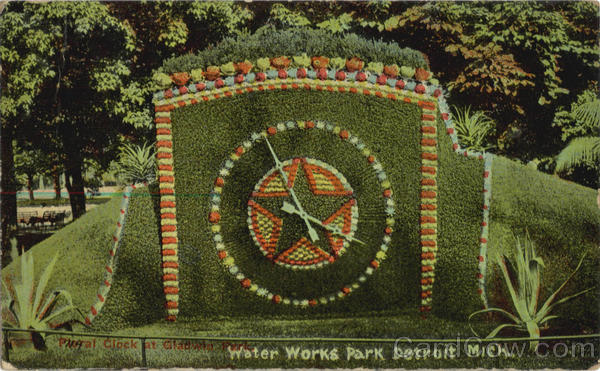 Floral Clock, Gladwin Park, Water Works Park Detroit Michigan